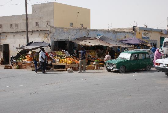 Nouadhibou, Mauritania: Main street