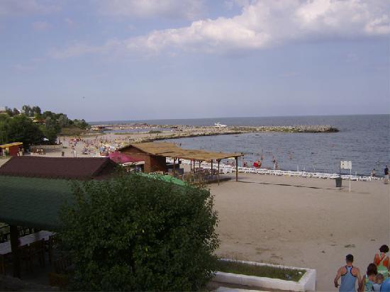 Neptun, Roumanie : plage de la ville voisine Venus