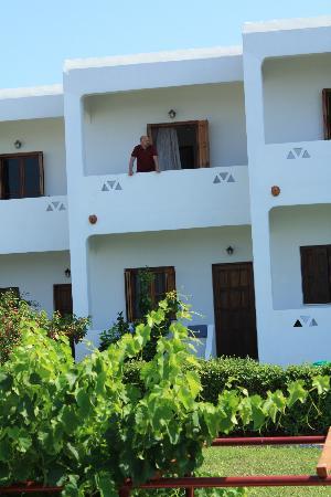 Hotel Angela: Our balcony