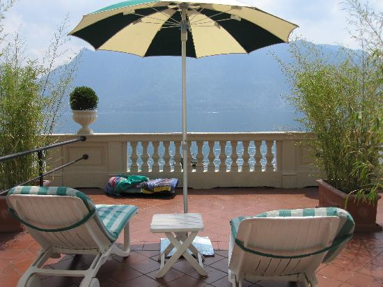 Hotel Ghiffa: our terrace overlooking lake