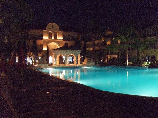 Napa Plaza Hotel: Pool at night.