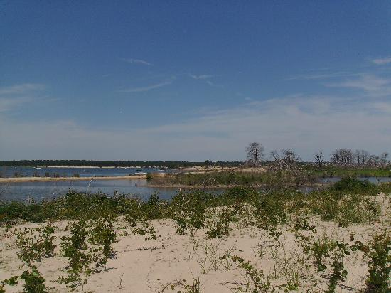 Texas: View from one of the sand islands