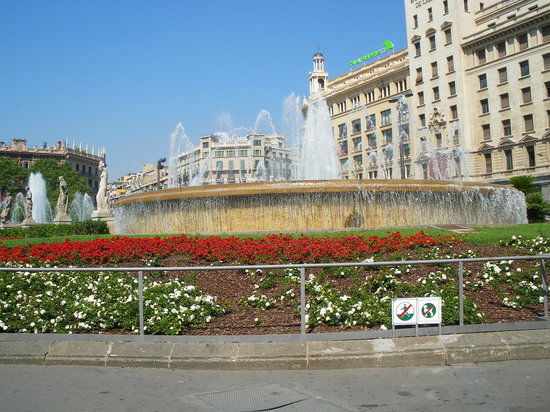 Барселона, Испания: Placa de catalunya