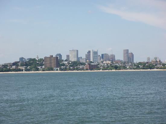 John F. Kennedy Presidential Museum & Library: Boston skyline from the Museum