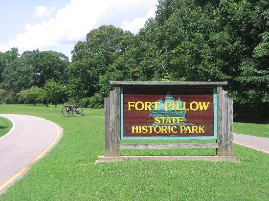 Fort Pillow State Park: Park entrance.