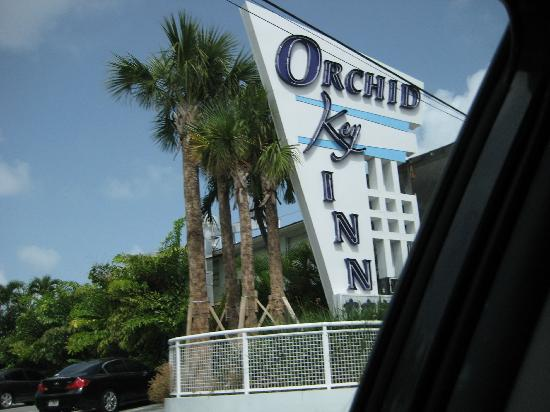 Orchid Key Inn: Front Entrance Sign