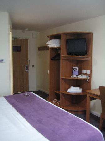 Premier Inn Silverstone: TV unit and Wardrobe