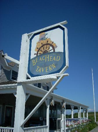 The Beachead Restaurant: The Beachead sign