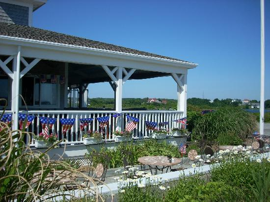 The Beachead Restaurant: Dining on the porch is a treat in nice weather.