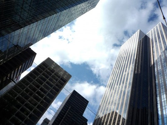 Toronto, Canada: Financial district, suits during the week, dead on weekends, best avoided.