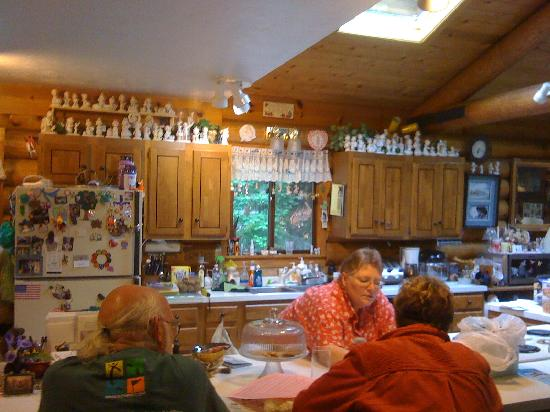 A Cozy Log Bed and Breakfast: Kitchen at Cozy Log