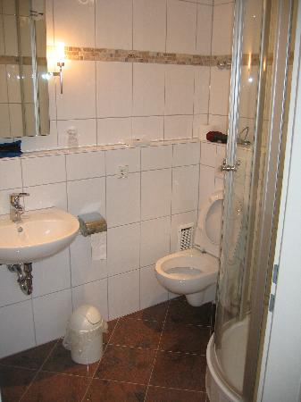 Hotel Am Markt: Bathroom- small, but well done