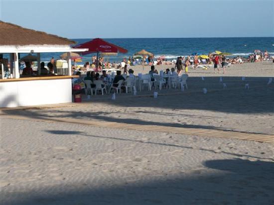 Cafe Loft Playa Muchavista: con varios chiringuitos de día y de noche