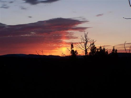 Rancheros de Santa Fe Campground: Sunrise from the campground trail.