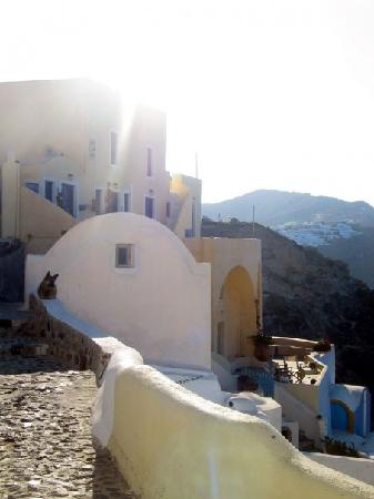 Old Oia Houses: The view from our front door