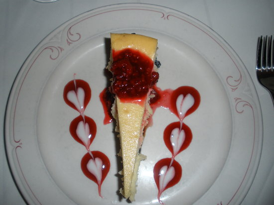 Hideaway Cafe: white chocolate cheesecake
