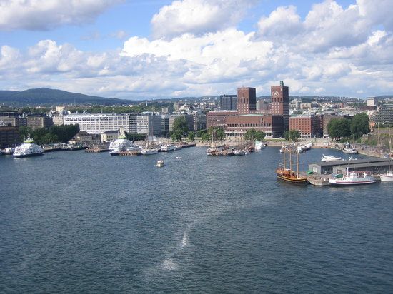 Осло, Норвегия: View of Oslo from ship