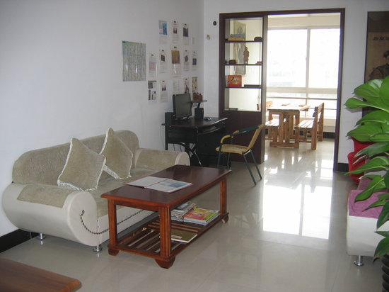 Xian Apartments Guesthouse Hq: The living area