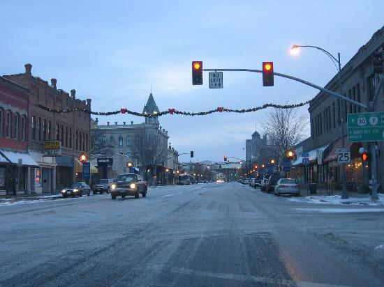 Baker City, OR: Downtown in Winter