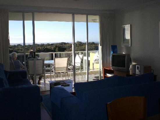 Seachange Coolum Beach: Living Room and View