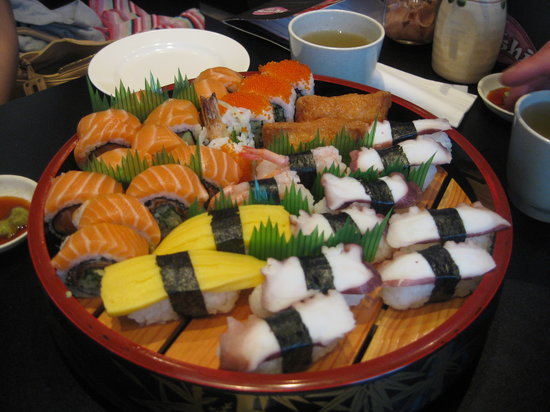 St. Sushi: selection of sushi off the menu