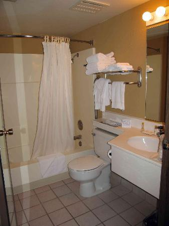 Quality Inn & Suites at Coos Bay: Room 249 very small bathroom