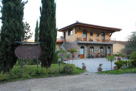 Drive view approaching  Villa La Malva