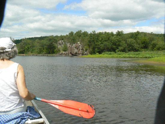Taylors Falls Scenic Boat Tours: A peaceful moment on the river