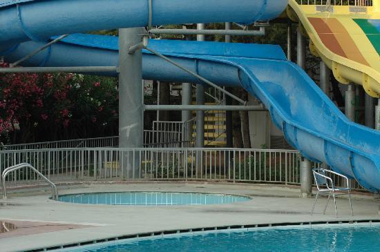 La piscine vide autour de laquelle les enfants courent for Aller a la piscine