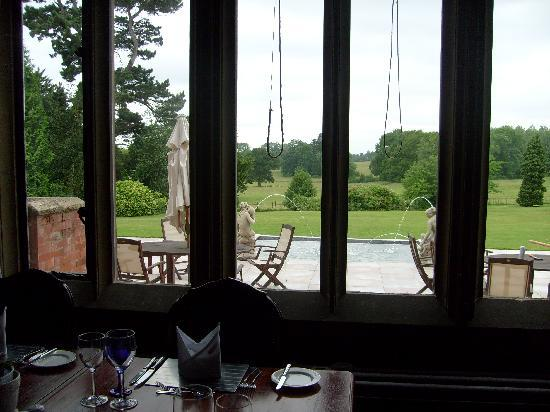 Wroxall Abbey Hotel & Estate: view from restaurant