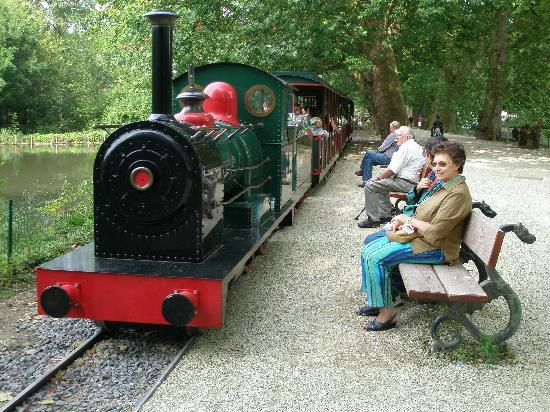 Brugelette, Belgia: Petit train qui fait le tour du lac