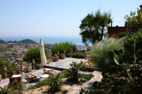 Bordighera, Italie : la terrazza privata e la sua vista