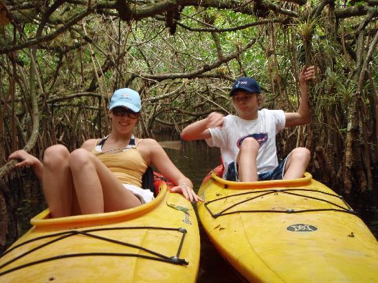 Everglades Rentals & Eco Adventures: Relaxing in a mangrove tunnel