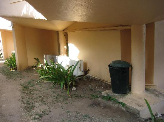 Guana Bay Beach Villas: Your Air Conditioned Unit and trash collection by your door