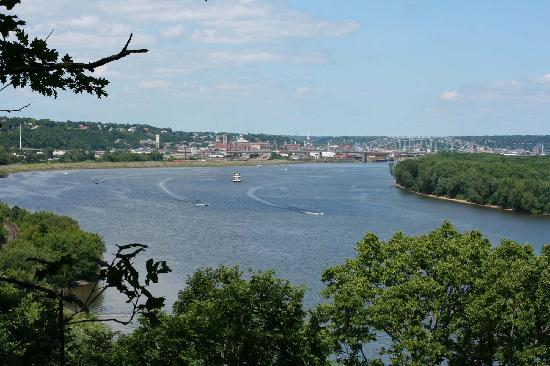 Mines of Spain Recreation Area: View of Dubuque from Julien Dubuque Monument area.