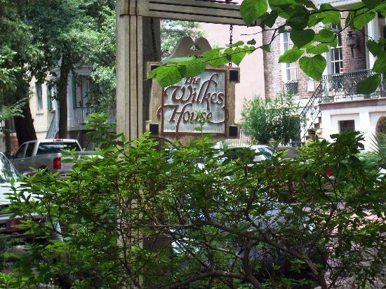 Mrs. Wilkes Dining Room: Sign outside the restaurant
