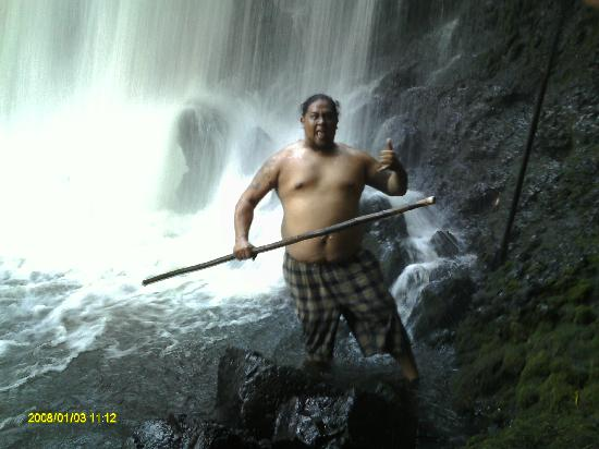 The Falls at Kawainui: My Cousin Joe, Less than 5 Minutes after we arrived at Falls at Kawainui!