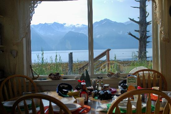 A Cottage on the Bay: View from the table in the Cottage on the Bay, Lowell Point, Seward