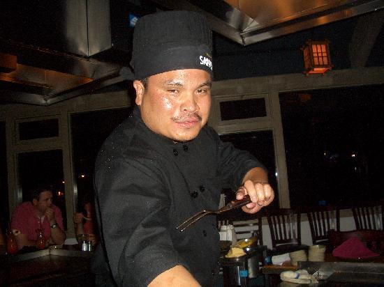 Sapporo Japanese Steakhouse: Il nostro cuoco!!!