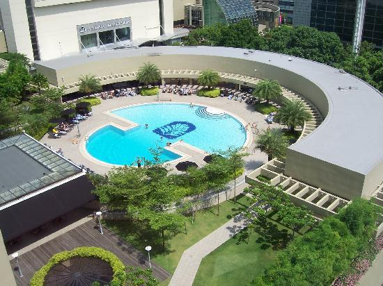The pool as taken from the glass lift picture of pan - Pan pacific orchard swimming pool ...