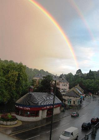 Hodgkinson's Hotel: We even got to see this double rainbow from our room window.