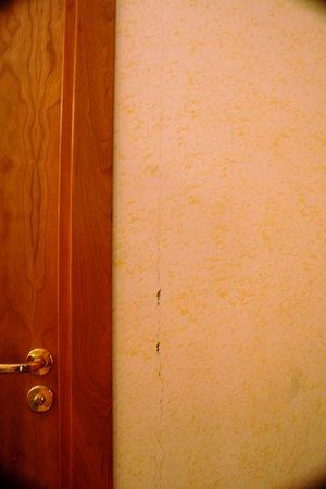 Hotel Amadeus :                                     Una de tantas grietas de nuestra habitacion