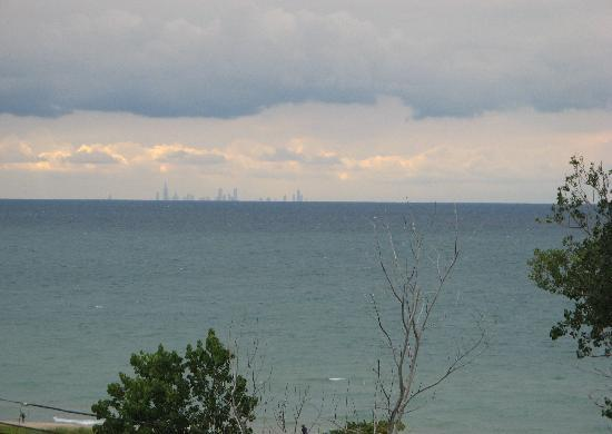 Michigan City, IN: Look closely: That's the Chicago skyline across the lake