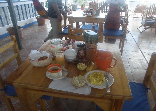Hotel Gardner: the breakfast itself....