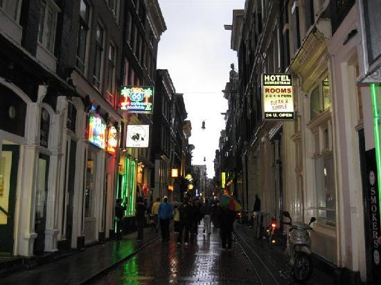 Hostel Meeting Point: The hostel is located on this street. It´s full of people at night.