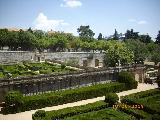 jardines de el escorial madrid foto van spanje europa