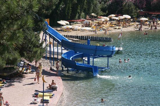 Letoonia Club & Hotel: View down to the waterslide