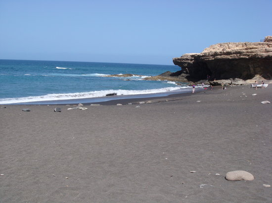 Caleta de Fuste, Spain: Black Sand at Ajuy