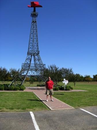 The Paris, Texas, Eiffel Tower: Steve in Paris, Texas that is!