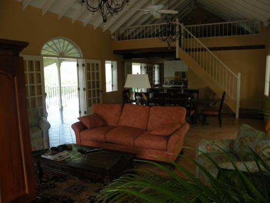 Villa Marigot : living room